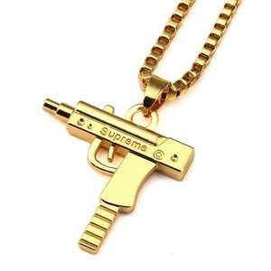 Gold Supreme Uzi Chain/Necklace/Pendent